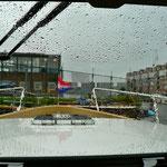 Im Aeolus Haven. Im Hintergrund der Foodmarkt (Jumbo) Amsterdam