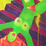 GEFALLENER ENGEL  mischtechnik auf leinwand  70x100 cm  1999