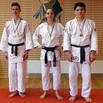 Nos cadets médaillés : Arthur VILCOQ, Jade TIJOU et Marc LE BERRE