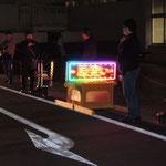 東京電力山梨支店前でのマイクアピール