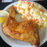 Chicken with potato salad