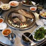 Koreanische Grillplatte, Schweinefleisch