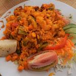 Reis mit Meeresfrüchte