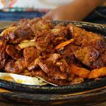 Schweinefleisch gebraten, koreanisches Essen