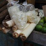 Palmenstamm, Markt in Belen