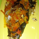 BBQ fish with head, Flores