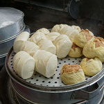 Pao, steamed dumplings with meat inside or without filling