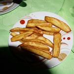 Cassava fritiert
