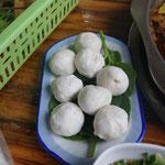 Fischbällchen als Beilage für Sichuan Hot Pot