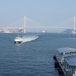 Blick vom internationalen Hafen von Busan - Look from the international harbour of Busan