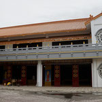Local temple, hall for the urns, left, middle and right part