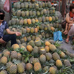 Local market pajak horas, pineapple