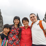 Mery with our old school friend Juita and her daughter, Prambanan
