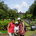 Mery with our old school friend Juita and her daughter, Borobudur