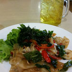 Fried rice noodle with basil