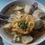 Bakso, noodle soup with meat balls