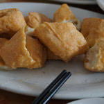 Knusprig fritierte Tofu