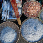 Local market pajak horas, salted dried fishes