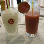 Hausgemachte Limonade und Guavasaft