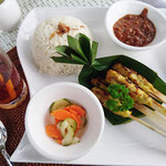 Satay lilit menu, typical Balinese satay, Bali