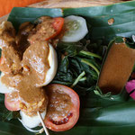 Gado gado, cooked vegetables with peanut sauce, Bali
