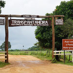 Eingang des Transpantaneira Straße (Entrance of the Transpantaneira road)