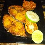 Fisch fritiert, Flores