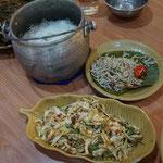 Reis mit kleine Sardinen, Bali