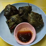 Fried chicken in Pandan leaves