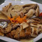 Hähnchen gekochtund fritiert