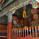 Cheongnyeonam Tempel, was hat Mery wohl ausgeressen? - Cheongnyeonam temple, why does the god looks angry to Mery?