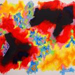 赤い楽園 #2 アクリル、キャンバス 530×652mm