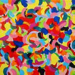 楽園 アクリル、キャンバス 158×227mm