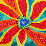 flower #35 アクリル、キャンバス 455×530mm