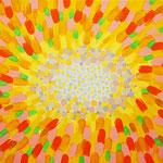 光の中 アクリル、キャンバス 220×273mm