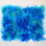 Undulation #39,  Acrylic on canvas, 455×530mm