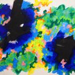 青い楽園 #2 アクリル、キャンバス 530×652mm