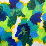 青い楽園 アクリル、キャンバス 242×333mm