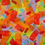 春 アクリル、キャンバス 158×227mm