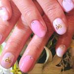 ピンクとマーブル+リボン4300円