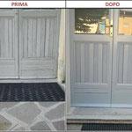 porta di ingresso bianca restaurata