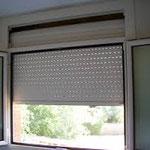 Persiana enrollable de PVC vista interior cajón sin tapar. PERSIATEC (Murcia)