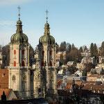 Blick zur Stiftskirche St. Gallen