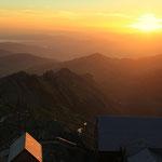 Sonnenaufgang auf dem Säntis 2502m ü. M