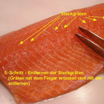 Lachs filetieren