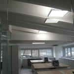 pannelli installati in ufficio mansarda