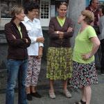 Zomerinstuif op Vismarkt, zomer 2013, ook tijd om een gezellige babbel te doen.