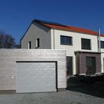 Plusenergie- /Passivhaus Gaibach - Südwest-Ansicht 1