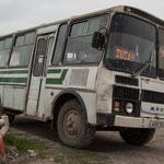 Azerbaijan - Schulbus in Quba