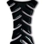 Tankpad-Formschnitt aus schwarzer Folie, 3D-veredelt